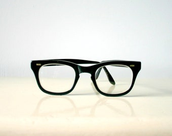 Authentic Vintage 1960's Black Rim Glasses