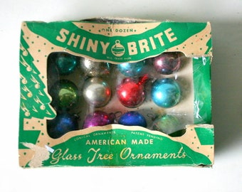 Shiny Brite 1950s Christmas Tree Ornament Set