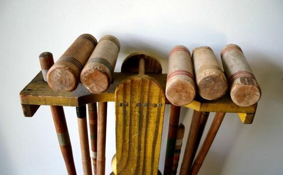 Lets Have  A Game ol' Sport 1930s Croquet Set