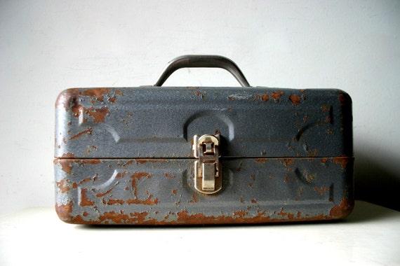 Vintage Industrial Metal Box