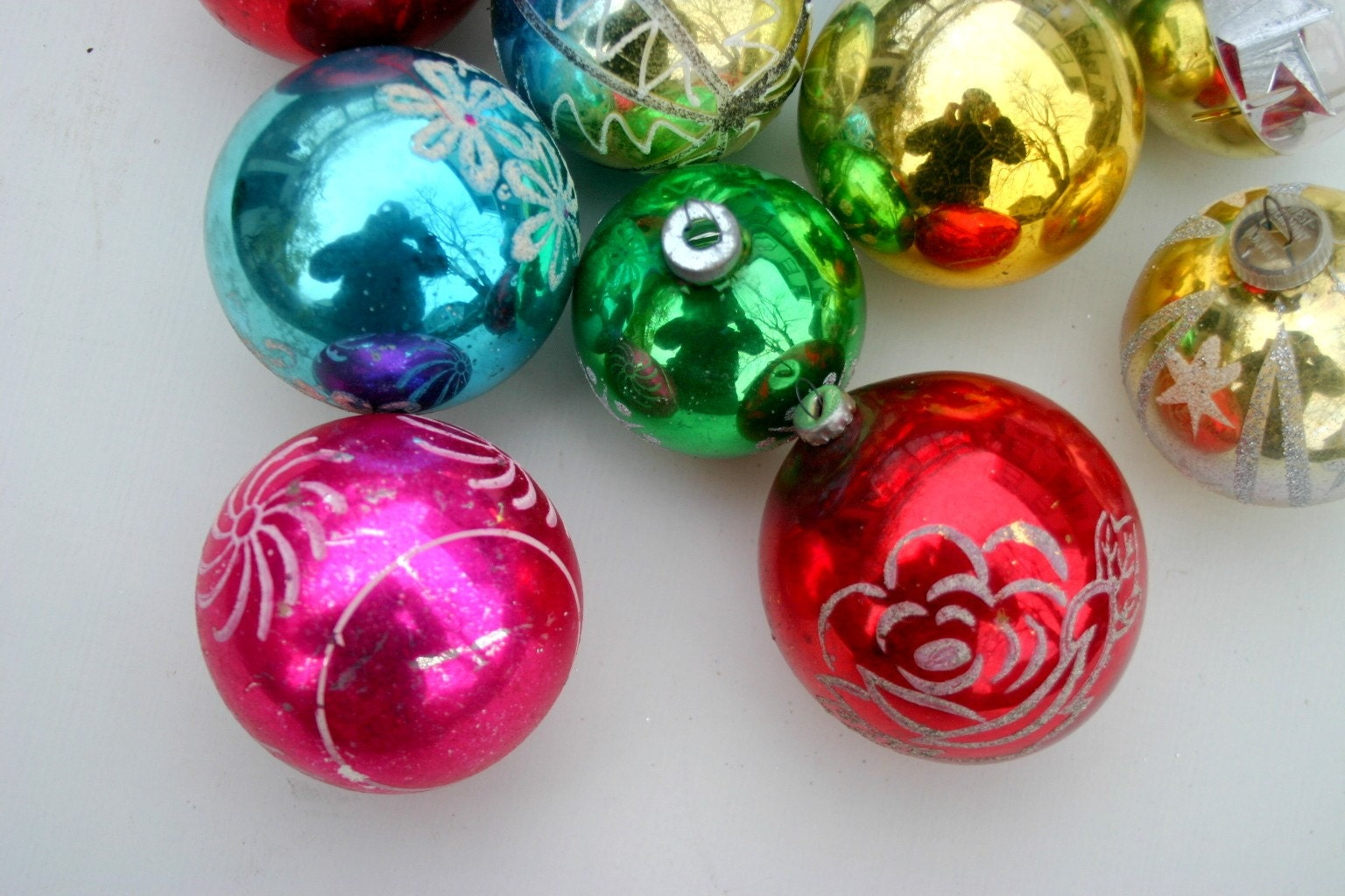 Vintage 1950 S Glass Christmas Ornaments By Psychicceremonies