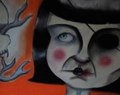 SALE Nadine in her Nightmare original art