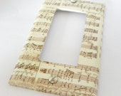 Musical chart vintage look rocker switch plate