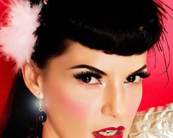 Vintage Rose Earrings in Black....TREASURE WORTHY