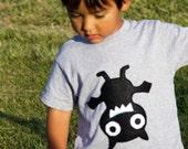 Hanging Bat Toddler T-Shirt - Gray