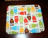 mousepad / Mouse Pad / Mat / mouse mat  - Urban Zoologie Owl - Rectangle or round