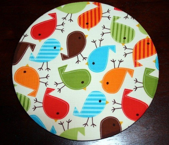 mousepad / Mouse Pad / Mat round or rectangle - Urban Zoologie Birds