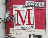 Mini Scrapbook -- Vintage School Memories