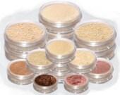 Mineral Makeup Set MEDIUM & BEIGE matte Foundation powder bare blush Veil pink eyeshadow brown eyeliner spot circle concealer kit TiaraLx