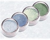 blue green Eyeshadow  CARIBBEAN SEA light turquoise Mineral Eye Shadow Liner Kit Set Sifter Natural Makeup Cosmetics TiaraLx Minerals
