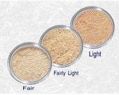 Mineral Foundation FAIR - FAIREST Light - LIGHT Matte Face powder sample set cool pink golden skin tone kit Makeup base Cosmetics TiaraLx