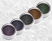 Mineral Smoky Eyeliner Matte SMOKY EYE Shadow Liner set rich brown deep dark blue pigment green bold purple kit makeup TiaraLx Full Size