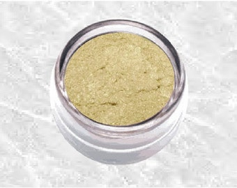 GOLD PEARL Eyeshadow yellow brown Mineral shimmer look Eye Shadow Liner Neutral Pastel beige Eyeliner soft pale colour Cosmetics TiaraLx