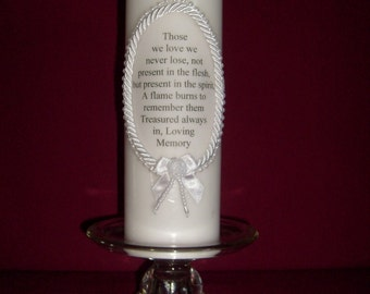 Pillar Memory Candle (white)