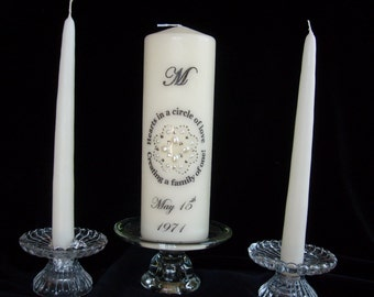 Creating a Family of One Unity Candle Set/ Blended Family Unity Candle Set