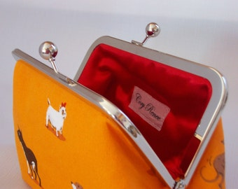 SALE ITEM - Puppy Dogs and Red Clutch Purse