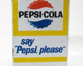 Sign. 1950s Pepsi-Cola Metal Sign. AS IS.
