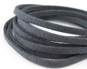 SL10040) 10 meter of 3.0mm Grey Suede Lace