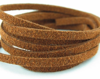 SL05032) 5 meter of 3.0mm Dusty Brown Suede Lace