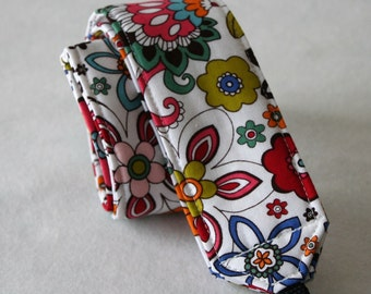 Ready to ship Monograming is not available Camera Strap for DSL Camera White, Turquoise and Red Fun Funky Floral Print