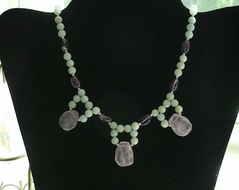 Courage..... amazonite and amethyst