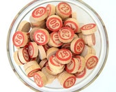 Red Number Lotto Game Markers - Set of 15
