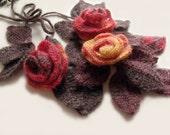 Freeform crochet, Leaf scarf, Crochet necklace, Crochet lariat, Crochet  choker, 3D flowers leaves, Fall scarf., Fall accessory, Art to wear