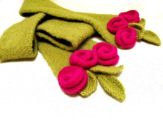 how to make a felt flower scarf