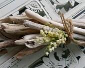 Bouquet of Driftwood for Beach Wedding Coastal Decor /  Nautical Decoration and  Natural centerpiece