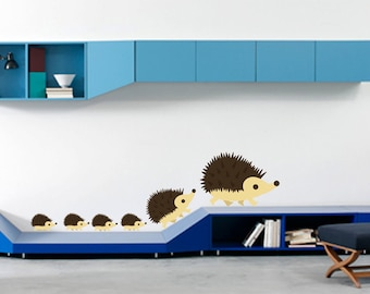 Cute Hedgehog on the Move Wall Decal