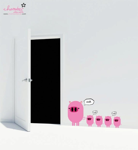 Oink Oink Cute Pigs Wall Stickers / Decals