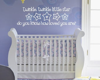 Twinkle, Twinkle Vinyl Wall Decal (K-015)