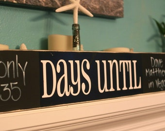 20 pack DAYS UNTIL Vinyl Decal - DIY Chalkboard Sign (D-012d)