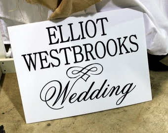 ADD-ON: Custom Wedding Signage - Add a Second Side
