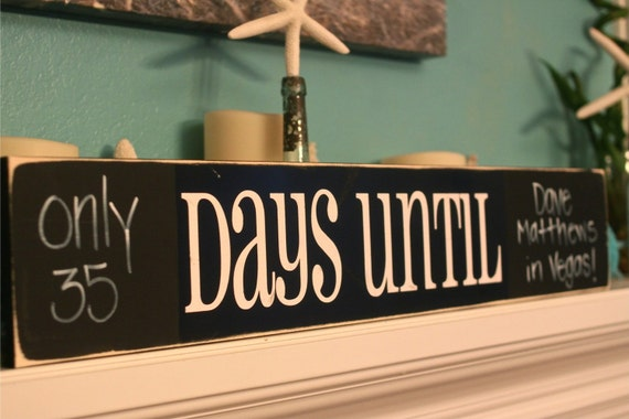5 pack - DAYS UNTIL - make your own chalkboard sign - Vinyl Wall Decal