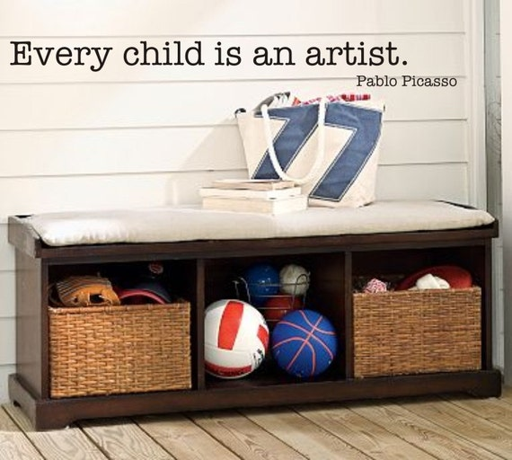 Every Child Is An Artist Vinyl Wall Decal K 048
