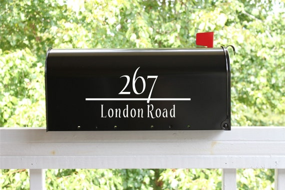 TWO SIDES - Classic Mailbox Address Only Vinyl Decal