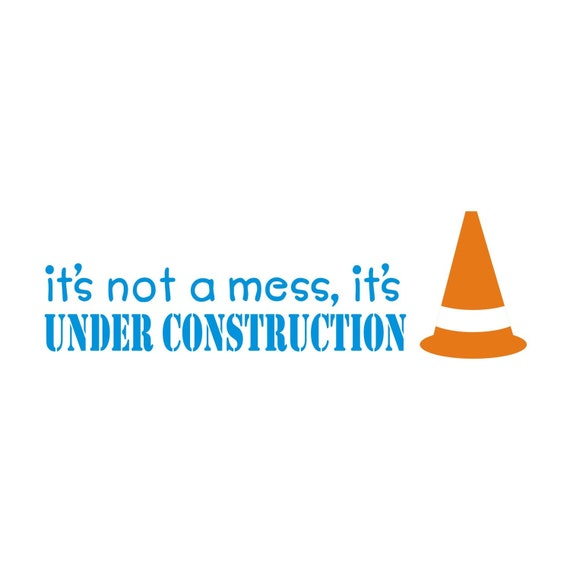 Under Construction Zone Vinyl Wall Decal (k-045)