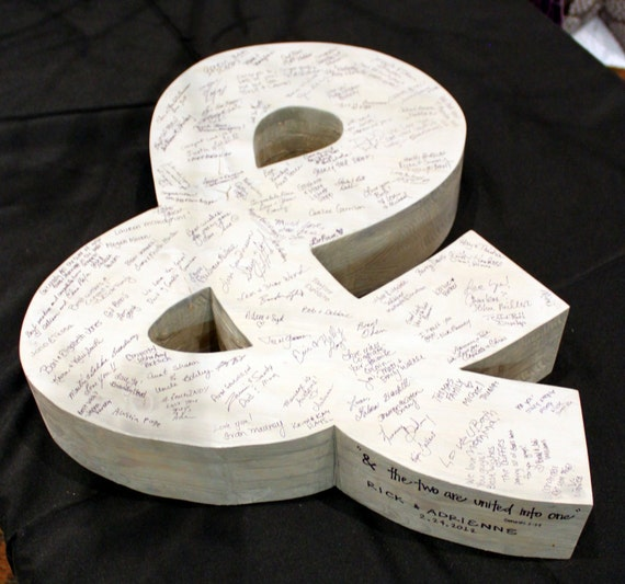 ampersand sign 3D guestbook (W-025a) - wedding guest book photo prop vintage shabby chic cottage decor
