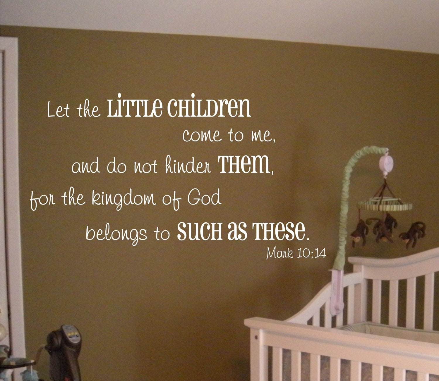 Let The Little Children Come To Me Mark 10 14 Vinyl Wall