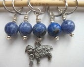 Stitch Markers - Knitting - Crochet - Little Sheep - Handmade - Set of 5