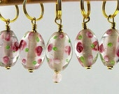 Stitch Markers - Rose Poem - Knitting - Crochet - Row Counter - Handmade - Set of 5
