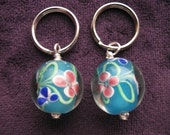 Stitch Markers - Knitting - Crochet - Beautiful Blooms -  Zipper Pull - Handmade - Set of 2 - Only 3 sets left