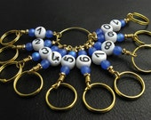 Knitting Row Counter - Round About Row Counter - Matching stitch markers - Pick you color