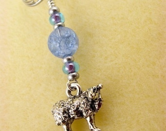 Knit Stitch Marker - Sheep - Handmade - Knitting - Crochet Marker - Charm - Zipper Pull - Earrings - Pendant - Scissor Fob - Phone Charm