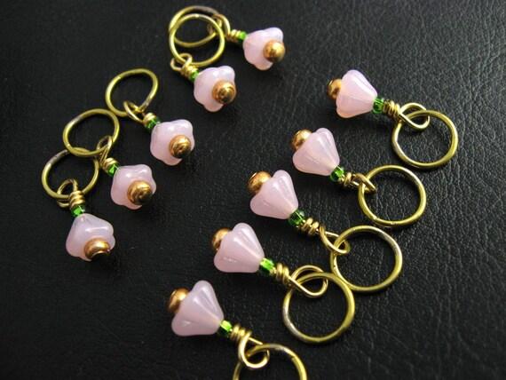 Lace Knitting Stitch Markers : Stitch Markers Pink Minis Knitting Snag Free Lace