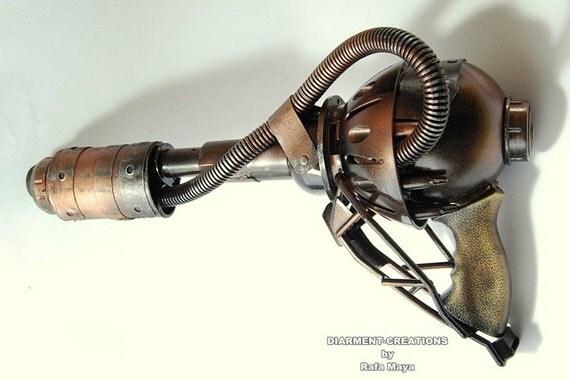 Steampunk Cyberpunk Ray Gun 5