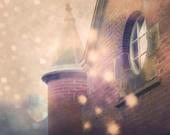 "Dreamy magical castle purple aubergine towers surreal magical autumn  - ""Le Chateau"" 8 x 10"
