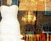 I do, wedding dress, storefront window display, shopping, fashion - home decor 8 x 10 fine art print