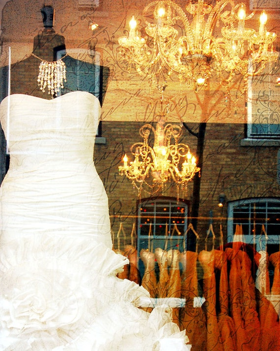 Items similar to i do wedding dress storefront window for Wedding dress display at home